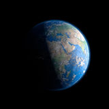 Ansicht über Tag der Erde und Nacht lizenzfreie abbildung