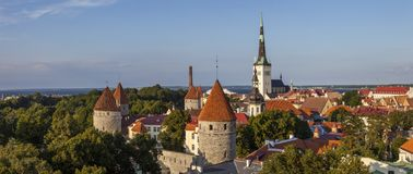 Ansicht über Tallinn in Estland lizenzfreie stockbilder
