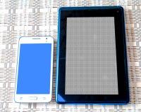 Ansicht über Tastatur und Schirm Lizenzfreie Stockbilder