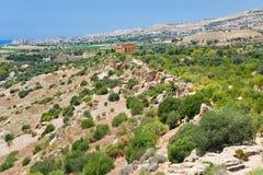 Ansicht über Tempel auf Concordia im Tal der Tempel Lizenzfreies Stockbild