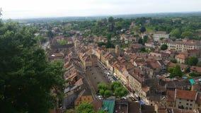 Ansicht über traditionelles mittelalterliches Dorf Cremieu Stockfoto