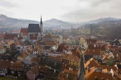 Ansicht über Tschechen Krumlov Lizenzfreie Stockbilder