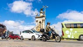 Ansicht über Verkehr in Barcelona lizenzfreie stockbilder