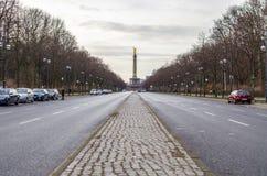 Ansicht über Victory Column in Berlin (Berlin Siegessäule) Stockbild