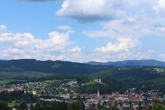 Ansicht über Voitsberg stockbilder