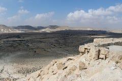 Ansicht über Wüste Negev vom Nationspark Ein Avdat Lizenzfreie Stockbilder