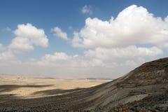 Ansicht über Wüste Negev vom Nationspark Ein Avdat Stockfotografie
