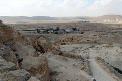 Ansicht über Wüste Negev vom Nationspark Ein Avdat Lizenzfreie Stockfotografie
