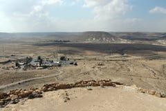 Ansicht über Wüste Negev vom Nationspark Ein Avdat Lizenzfreies Stockbild