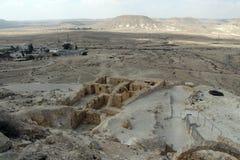 Ansicht über Wüste Negev vom Nationspark Ein Avdat Stockfotos