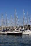 Ansicht über Yachten Lizenzfreies Stockfoto