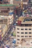 Ansicht über zentrales Geschäftsgebiet von Nairobi Stockbild