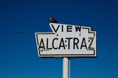 Ansicht Alcatraz Stockfoto