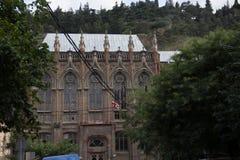 Ansicht alte Stadt-der gotic Schule Tifliss Stockfotografie