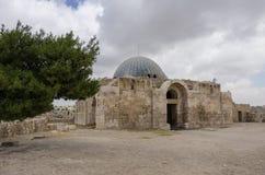 Ansicht alten Umayyad-Palastes, Jabal-Al-Qal'a, Zitadellenhügel in Amma lizenzfreie stockbilder