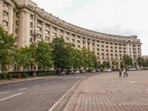 Ansicht alter arhitecture Fassade von Constitutiei-Quadrat, Bukarest Stockbild