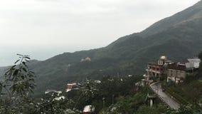 Ansicht alter Stadt Jiufen in Taipeh, Taiwan stock video footage