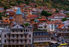 Ansicht alter Stadt Sololaki Tifliss lizenzfreie stockfotografie