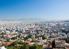 Ansicht Athen Stockbild