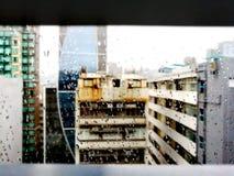 Ansicht auf die errichtende Oberseite lizenzfreies stockfoto