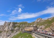 Ansicht auf die Oberseite von Mt Pilatus Lizenzfreie Stockfotografie