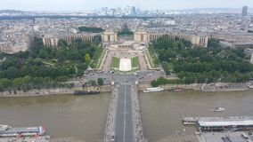 Ansicht auf vom Eiffelturm lizenzfreie stockfotografie