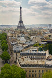 Ansicht Ausflug-Eiffels Paris von der Spitze Arc de Triomphe s Stockbilder