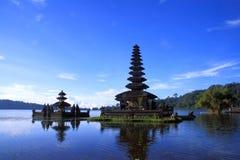 Ansicht in Batur See Bali Lizenzfreies Stockbild