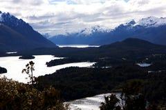 Ansicht bei Bariloche Lizenzfreies Stockfoto