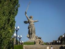 Ansicht bei den Skulptur Mutterlands-Anrufen stockfotos