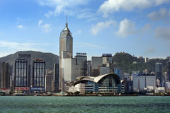 Ansicht bei Hong Kong von Victoria Harbor Lizenzfreie Stockfotos