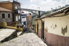 Ansicht bei Ponte tun Infante, Porto lizenzfreies stockbild