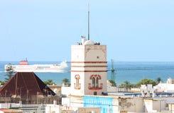 Ansicht bei Torre Tavira von der Kathedrale, Cadiz Lizenzfreie Stockfotos