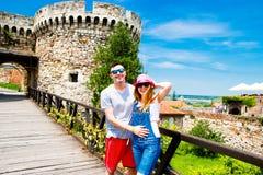 Ansicht Belgrads Serbien vom alten Schloss Lizenzfreie Stockfotos