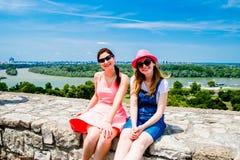 Ansicht Belgrads Serbien vom alten Schloss Stockbild