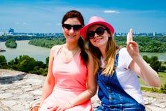 Ansicht Belgrads Serbien vom alten Schloss Lizenzfreies Stockbild