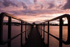 Ansicht über IJ Amsterdam Stockfoto
