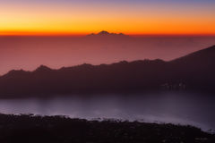 Ansicht Berg Batur Rinjani Lizenzfreie Stockfotografie