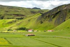 Ansicht in Berglandschaft in Island Stockbilder
