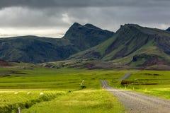 Ansicht in Berglandschaft in Island Lizenzfreie Stockfotografie