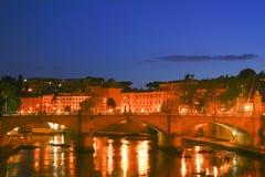 Ansicht Berninis von der Brücke in Rom Lizenzfreie Stockbilder