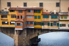 Ansicht Brücke der Gold(Ponte Vecchio) in Florenz Stockfoto
