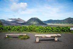 Ansicht bromo von cemara indah Stockfotografie