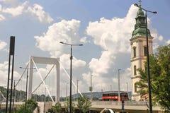 Ansicht Budapests, Ungarn - die Donau- Stockfotografie