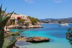 Ansicht Calas Fornells in Paguera, Majorca stockbild