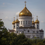Ansicht Christus die Retter-Kathedrale von Moskau Stockbild