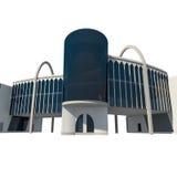 Ansicht 3d des Handelsgebäudes Stockfoto