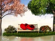 Ansicht 3D Valentin für Liebe und Romantik Lizenzfreie Stockbilder