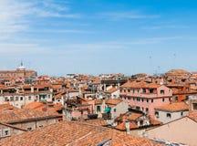 Ansicht-Dachspitzen Venedig von Palazzo Ducale stockfotos