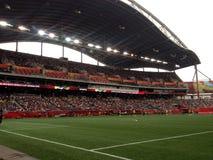 Ansicht in das Winnipeg-Stadion Gruppe- von Investorenfeld Lizenzfreies Stockbild